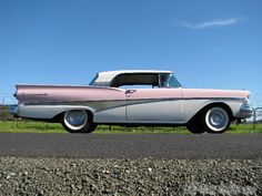 1958 Ford Fairlane Skyliner Convertible for Sale by Left Coast Classics. This classic pink & white Fairlane 500 is in nice shape and ready to enjoy now. Classic Trucks, Classic Cars, Classic Style, Ford Convertible, Ford Girl, Mercury Cars, Ford Lincoln Mercury, Car Restoration, Ford Fairlane