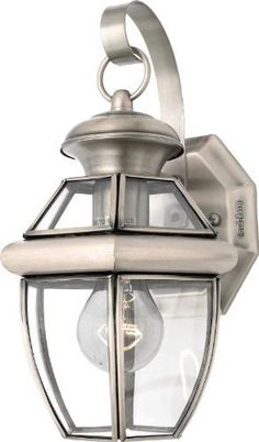 Quoizel NY8315P Newbury 1 Light Outdoor Wall Lantern with Pewter Finish by Quoizel. $61.99. When it comes to curb appeal, outdoor lighting plays a large part in creating a special ambiance. The classic design of the Newbury gives the outside of your home a rich elegance, without making it look over-embellished.