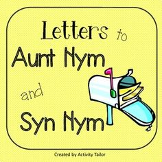 Ice cream synonyms from barbaracantwell on teachersnotebook letters to aunt nym and syn nym are hysterical ways to address antonyms and synonyms in m4hsunfo