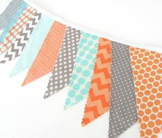 Bunting Banner  Photography Prop Fabric Flags by OvationStudio, $30.00