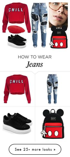 """""""Ready for school"""" by nikol-139 on Polyvore featuring Alexander McQueen"""