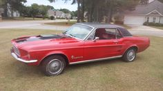Make:  Ford Model:  Mustang Year:  1967 Exterior Color: Red Interior Color: Black Doors: Two Door Vehicle Condition: Good  Contact:  478-951-2461   For More Info Visit: http://UnitedCarExchange.com/a1/1967-Ford-Mustang-784184936949