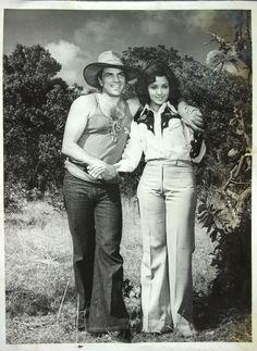 """Dharmendra and Hema Malini in  """"Maa"""" (1976)"""