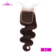 Brazilian Body Wave Remy Human Hair 4*4 Lace Closure | africanfashionhair Middle Parts, Hair Color, Color 2, Brazilian Body Wave, Lace Hair, Remy Human Hair, Lace Closure, Hair Type, 1 Piece
