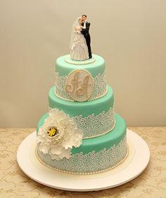 эксклюзивный свадебный торт на заказ 8602-автор Алла Белоусова (Одесса)