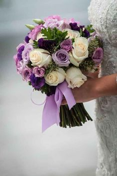 Prettiest Little Wedding Bouquets to Have and to Hold Photo: Aaron Almendral; 24 Prettiest Little Wedding Bouquets to Have and to Hold - Aaron AlmendralPhoto: Aaron Almendral; 24 Prettiest Little Wedding Bouquets to Have and to Hold - Aaron Almendral Blue Purple Wedding, Purple Wedding Bouquets, Bride Bouquets, Bridal Flowers, Purple Style, Flower Bouquets, Hand Bouquet Wedding, Plum Wedding Flowers, Greenery Bouquets
