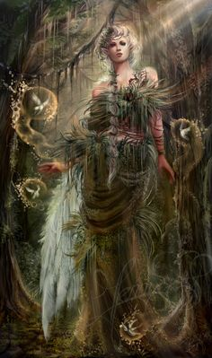 "Druids Trees:  ""Princess of the Jungle,"" by *Jennyeight, at deviantART."