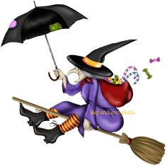 Buy Witch With Umbrella By Goccedicolore On PhotoDune Broom