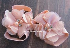 Little Peach Sandals Baby Girl Sandals by OurKraftyCreations