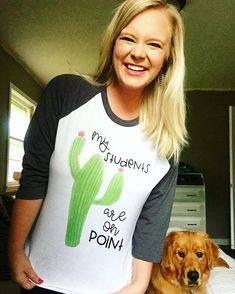 """257 Likes, 8 Comments - Chloe (@abuckeyeteacher) on Instagram: """"Thank you Alyssa for sharing this picture of your shirt!!! Who else is loving all things cactus…"""""""