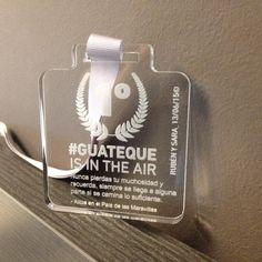 Medalla de metacrilato personalizada.