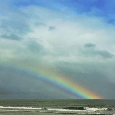 Rainbows, the beautiful Atlantic Ocean, and  wow the good times! Myrtle Beach, South Carolina (Photo via Instagram by @finsouttheback - Click on the pin to see hotel deals and more)