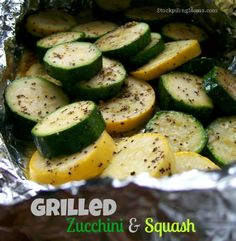 Grilled Zucchini and Squash is an easy low carb recipe.