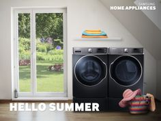 Turn Laundry Day into Beach Day. Our 9100 Series Front Load Washer with SuperSpeed technology can wash a full load in just 30 minutes.