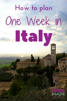When planning your Italy itinerary, pick a few of the highlights and don't rush. Enjoy Italy's beauty, food, culture and history one piece at a time. This post will help you plan one week in Italy.