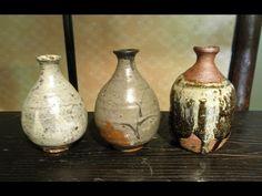 Three Karatsu Tokkuri Sake Flasks by Maruta Munehiko