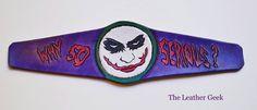 Joker leather cuff joker leather bracelet suicide squad