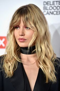 Georgia May Jagger Long Wavy Cut with Bangs - Georgia May Jagger sported sexy Brigitte Bardot hair at the Delete Blood Cancer Gala.