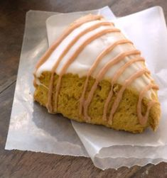 Starbucks Pumpkin Scones - just shared one with Chris, MUST bake them! Possibly for Thanksgiving Dinner?