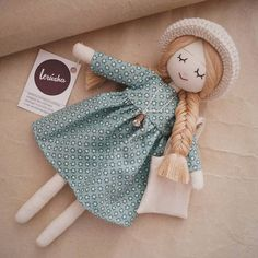 Available in my etsyshop lerusha handmade doll etsyYou May Enjoy fabric dolls With These Helpful TipsTechniques And Strategies For fabric crafts Handmade Dolls Patterns, Handmade Toys, Doll Patterns, Etsy Handmade, Fabric Doll Pattern, Pattern Sewing, Clothes Patterns, Free Pattern, Doll Crafts