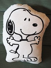 Snoopy pillow...got it when I had my wisdom teeth out