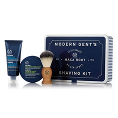 Who said men are hard to buy for? Give his skin the star treatment with this dapper collection of expert shaving care products, designed exclusively to care for male skin. Maca Root Shaving Cream, Maca Root Razor Relief & Shaving Brush.  Enriched with Community Fair Trade organic brazil nut oil from Brazil. Order by 11:59am EST on 12/21 for Guaranteed Christmas Delivery!