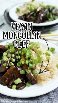 Delicious Vegan Recipes, Raw Food Recipes, Veggie Recipes, Healthy Recipes, Tempeh, Tofu, Vegan Vegetarian, Vegetarian Recipes, Mongolian Beef Recipes