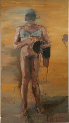 Gerard Waskievitz das 2018 Öl auf Leinwand 200 cm x 110 cm Michaela Helfrich Galerie