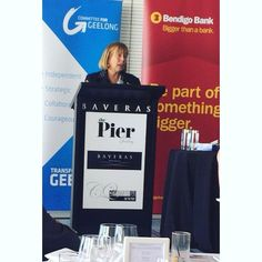 "Guest speaker Dame Julia Cleverdon at the #committeeforgeelong Luncheon last week describes ""being at the pier as like being in the south of France only geelong's weather is better""! #bendigobank #corporatelunch #corporateevents #coriobay #geelongevents #geelongwaterfront by thepiergeelong http://ift.tt/1JtS0vo"