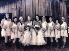 #rustic #barn #wedding #love #bridesmaids #mississippi