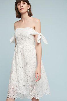 Eyelet Off-the-Shoulder Dress