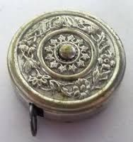 Image result for antique tape measure silver