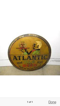 Atlantic Beer Old South Beer Sign
