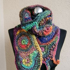 scarf in the colors by handmadestreet101 on Etsy