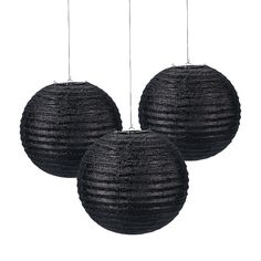 Black Glitter Paper Lanterns - OrientalTrading.com