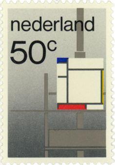 1983 | Willem Crouwel | grijs, geel, rood, blauw | De Stijl, Mondriaan
