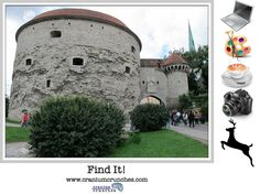 Our #game Find It! can help you work on #brain functions like attention, searching, and sorting.  Find the items on the right in the picture on the left, taken in #Tallinn, #Estonia.