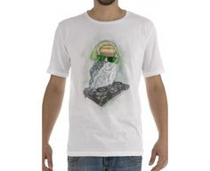 T-shirt owl dj color