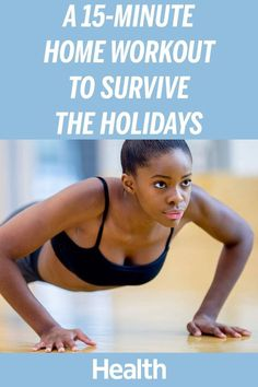 For most, the holiday season means a whole lot of travel, food and to-dos…and little time, space or energy for exercise. But your fitness doesn't have to take a backseat to a packed seasonal schedule — and this home workout, made up of just five exercises (all from Daily Burn 365), is proof. | Health.com
