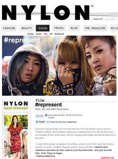 #2NE1 for adidas originals #bom #minzy #cl #dara REPRESENT NYLON MAGAZINE [] adidas initiative #represent neighborhood