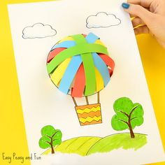 We have the most adorable hot air balloon paper craft idea to share with you today, and it comes with a printable template you can use (if you wish). Simple paper crafts for kids (and kids at heart) are out favorite to do as we always have some colorful paper just laying around. *this post …