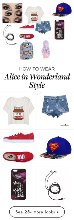 """out for the day"" by alicyafullbuster on Polyvore featuring Vans and Disney"