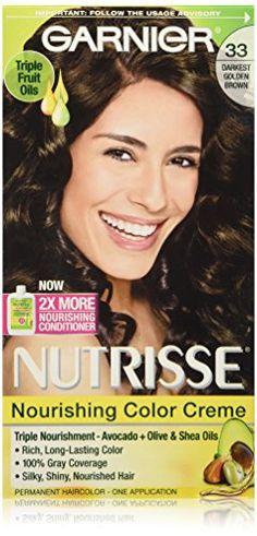 Garnier Nutrisse Nourishing Color Creme, 33 Darkest Golden Brown ** Click here for more details @