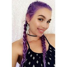 is so with this gorgeous head of hair! For this look, her hair stylist used and we are just how those show off the different of Manic Panic, Natural Curls, Natural Hair Styles, Waist Length Hair, Bright Hair Colors, Coloured Hair, French Braid, Purple Hair, Gorgeous Hair