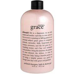 Women's Philosophy 'Amazing Grace' Shampoo, Bath & Shower Gel (71 BRL) ❤ liked on Polyvore featuring beauty products, bath & body products, body cleansers, fillers, pink, makeup, philosophy and beauty