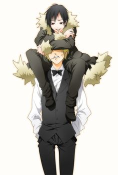 Hehe you're tall! I'm like the king up here!! ~Izaya You. Have. 5 seconds. Before. Death. ~Shizuo