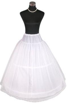 Flora 2-Hoop 1-Layer Net Bridal Wedding Petticoat/Prom Underskirt,Size S-XL -  #UK #Ireland [ Delivery To UK & Ireland Only ]