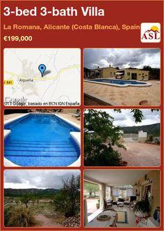 3-bed 3-bath Villa in La Romana, Alicante (Costa Blanca), Spain ►€199,000 #PropertyForSaleInSpain