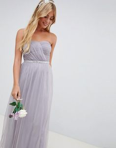 Browse online for the newest ASOS DESIGN Bridesmaid bandeau mesh embellished waist maxi dress styles. Shop easier with ASOS' multiple payments and return options (Ts&Cs apply). Lilac Bridesmaid Dresses Uk, Maxi Dress Wedding, Strapless Dress Formal, Asos Dress, Bandeau, Mesh, Wall Art, Metal Art, Lilac Wedding