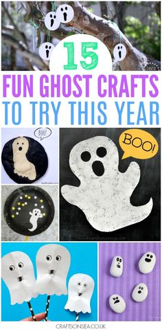 Sweet and not too spooky - these ghost crafts for kids are the perfect Halloween crafts to try out this year with tons of spooky but achievable inspiration.